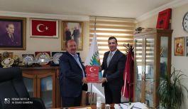 Müdür Laçin, Başkan Temel'i ziyaret etti