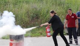 Terminal personeline yangın güvenlik tatbikatı