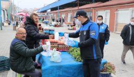 Çiftlikköy'de pazar yeri kontrollü...