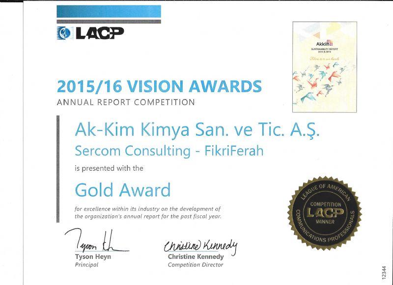 Ak-Kim Kimya'nın Sürdürülebilirlik Raporuna Uluslararası Ödül!