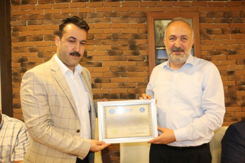 Çiftlikköy Belediye Başkan Yardımcısı Yavuz Akgün'e veda