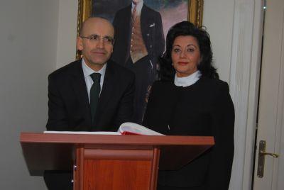 Yalova Maliye Bakanı Mehmet Şimşek'i Ağırladı
