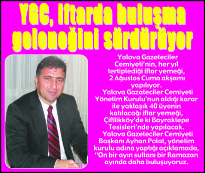 YGC, iftarda buluşma geleneğini sürdürüyor