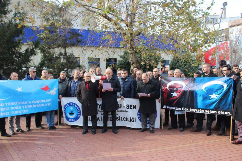 Türkiye Kamu-Sen, Doğu Türkistan için toplandı