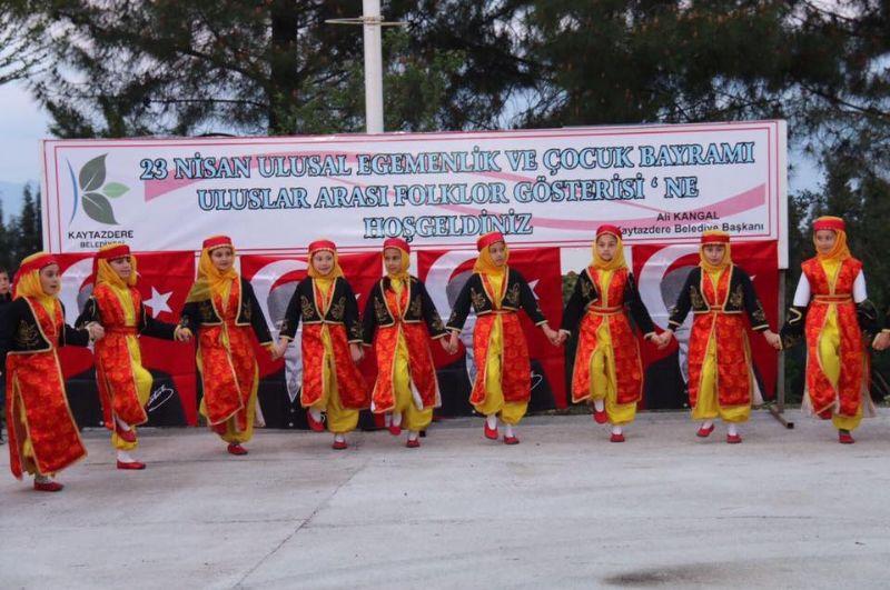 Kaytazdere'de coşkulu 23 Nisan kutlaması