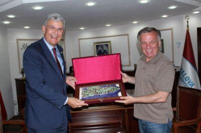 Bozkır'dan Başkan Koçal'a Ziyaret