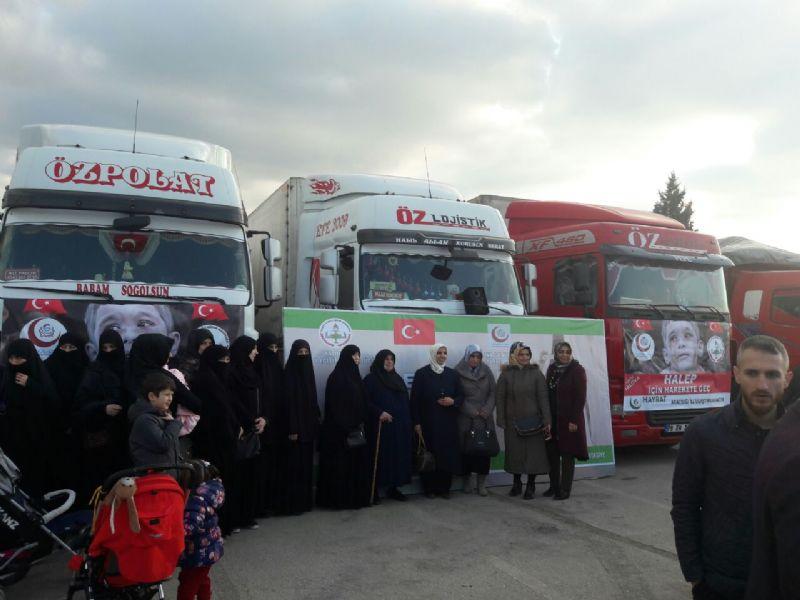 Yalova'dan Halep'e yardımlar devam ediyor