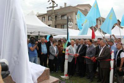 Çiftlikköy'de Mustafa Abdülcemil Kırımoğlu Parkı ve Anıtı Düzenlenen Törenle Açıldı