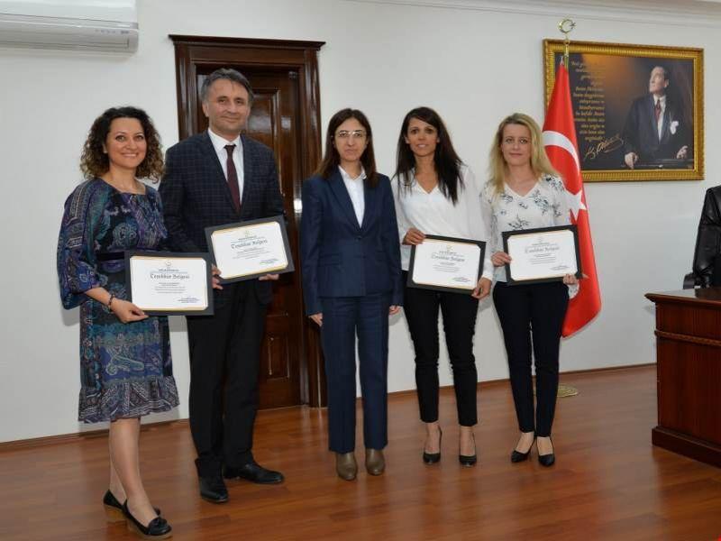Yalova Devlet Hastanesi Organ Bağışı Komitesine Teşekkür Belgesi