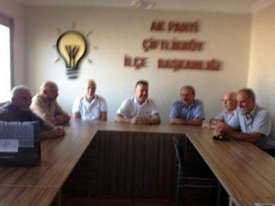 Sezer Köymen'den, Çiftlikköy AK Parti'ye ziyaret