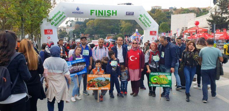 Altınova, İstanbul Maratonu'ndaydı