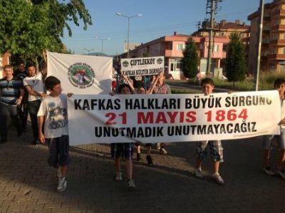 Çiftlikköy Kafkas Kültür Derneği, Çerkesler'in Kafkasya'dan sürgün edilişlerinin 149.yılını andı