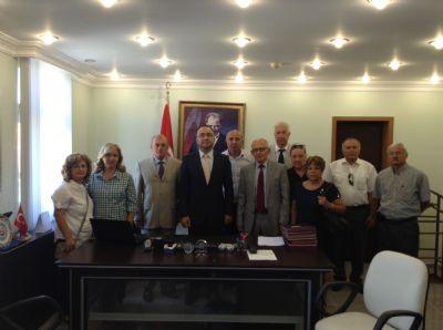 Çiftlikköy CHP İlçe Teşkilatı'ndan yeni kaymakama ziyaret