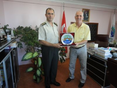Jandarma Alay Komutanı'ndan Şaban Ertan'a iadeyi ziyaret
