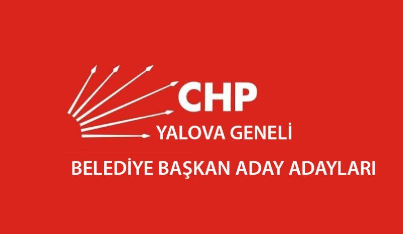 CHP'nin Yalova'da belli olan Belediye Başkan Adayları