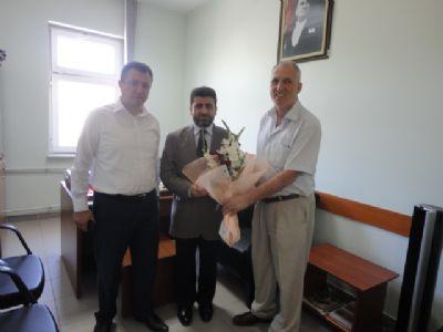 Şaban Ertan, yeni atanan Çiftlikköy İlçe Müftüsünü ziyaret etti
