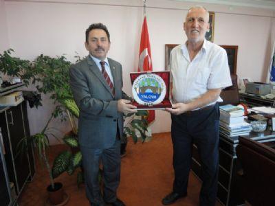Yalova Vali Yardımcısı Saim Eskioğlu'ndan Şaban Ertan'a veda ziyareti