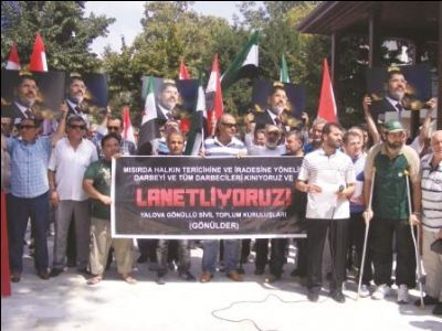 Yalovalılar Mısırdaki katliamı protesto etti