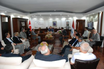 Esnaf Temsilcilerinden Belediye'ye Ziyaret
