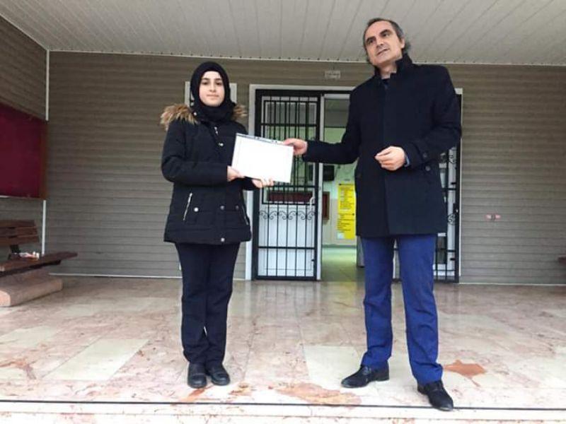 Kaşgarlı Mahmut Mesleki ve Teknik Anadolu Lisesi öğrencisinden anlamlı başarı