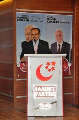 Saadet Partisi Yalova İl Başkanı Celal Korkmaz, 'İslam Âleminin kurtuluşu için dua edelim'