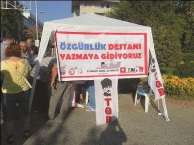 Taksim Gezi parkı olaylarının devamı Silivri'de olacak