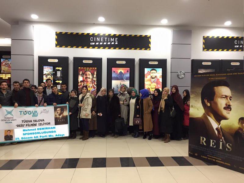 TÜGVA ailesi Reis filmini izledi