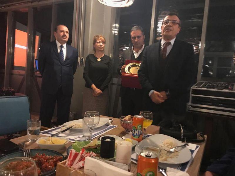 Muhlis Yavuz için veda yemeği düzenlendi