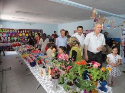 Taşköprü İlköğretim Okulu Anasınıfı öğrencilerinin, sergi heyecanı