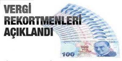 Yalova'da 2012 yılı vergi rekortmenleri