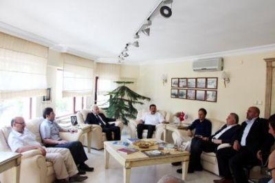 İlçe Belediye Başkanlarından, YTSO Yeni Yönetim Kuruluna ziyaret