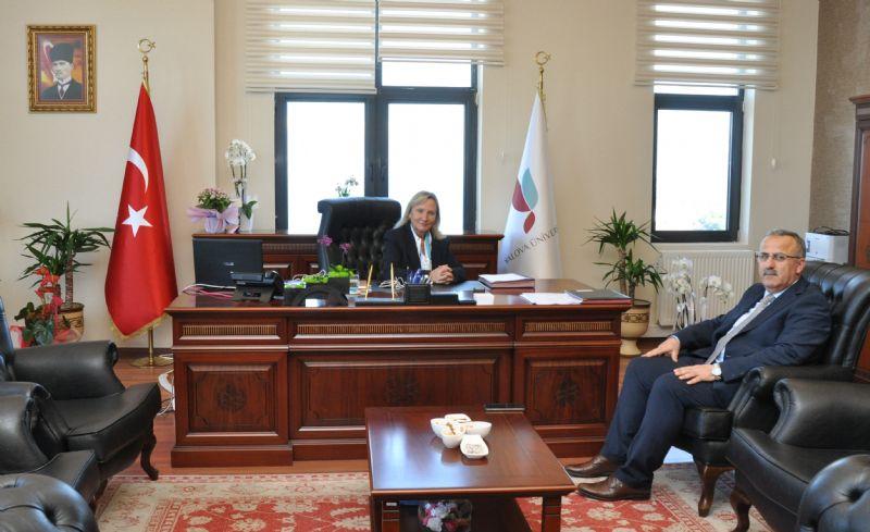 KYK Yalova İl Müdürü Mehmet Kalyon'dan Rektör Alkan'a Ziyaret