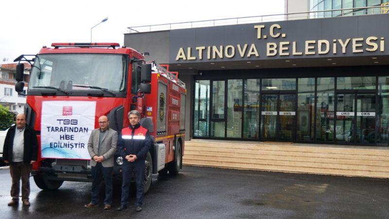Altınova'ya TASKİB ile yeni itfaiye aracı