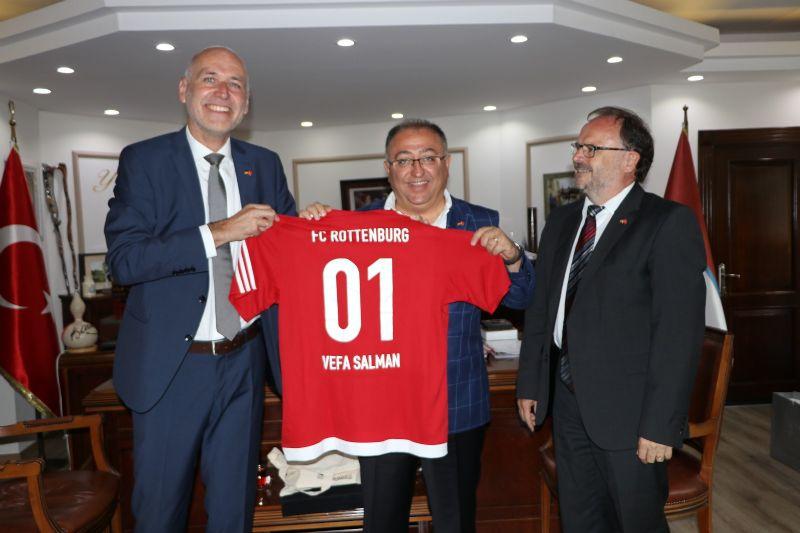 Rottenburg Heyetinden Başkan Salman'a ziyaret