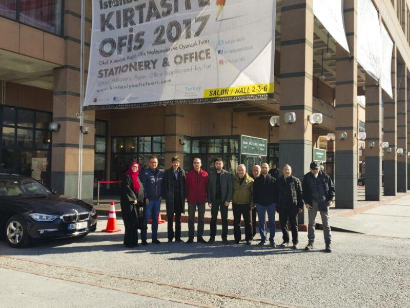 YTSO, İstanbul Kırtasiye Fuarını ziyaret etti