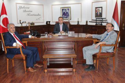 Vekil Coşkun ve Rektör Eruslu'dan Başkanvekili Avar'a Ziyaret