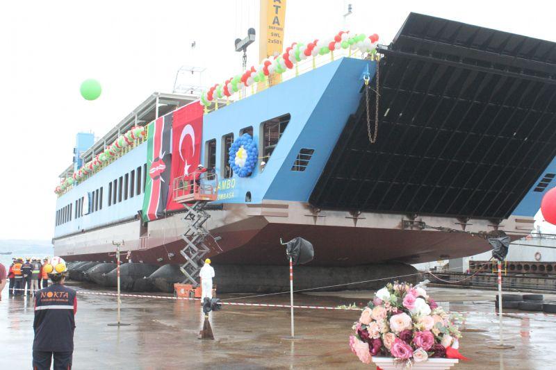 MV. Jambo Feribotu denize indirildi