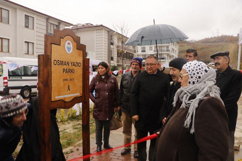 Osman Yazıcı'nın ismi parkta yaşayacak