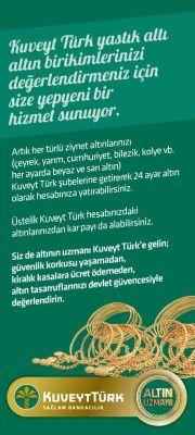 Kuveyt Türk, Yalova Şubesi'nde 23 – 24 Eylül tarihlerinde altın günleri gerçekleştiriyor