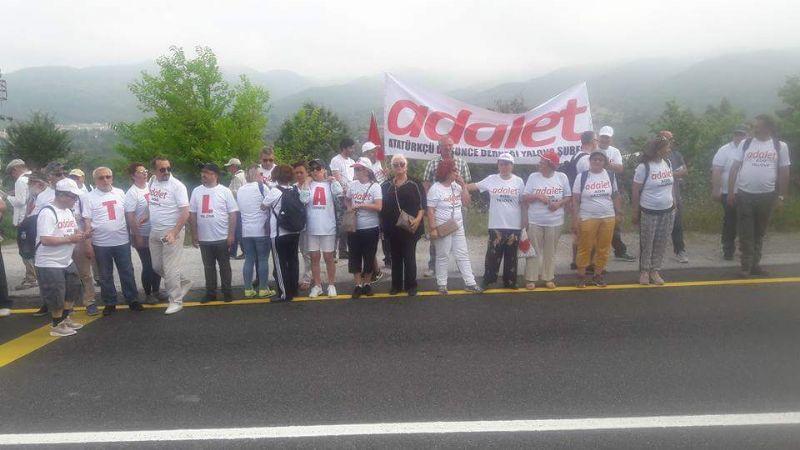 Adalet yürüyüşüne destek