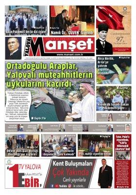 Manşet Gazetesi - 29.10.2020 Manşeti