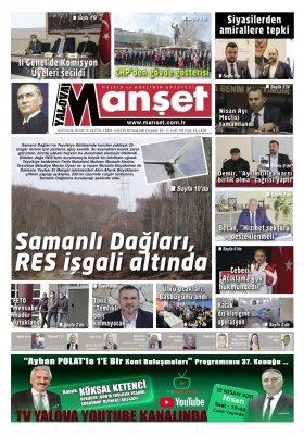 Manşet Gazetesi - 08.04.2021 Manşeti