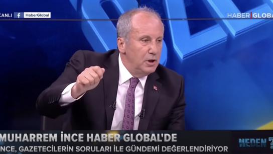 """İnce yayını terk etti, """"Türkiye Cumhuriyeti Erdoğan'ın babasının malı değil"""