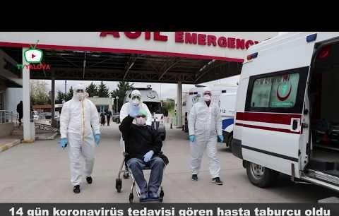 Yalova Devlet Hastane'sinden ilk taburcu gerçekleşti